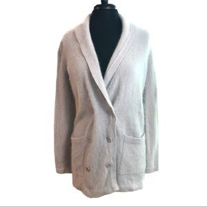 VS Moda International Lilac Angora Cardigan Sz M